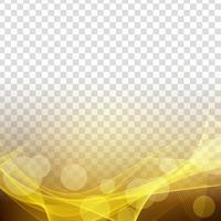 Abstracte moderne gloeiende golf transparante achtergrond vector
