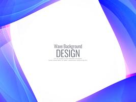 Abstracte blauwe golvende achtergrond vector