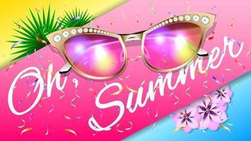 zomer zonnebril realistische achtergrond vector