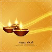 Abstracte Gelukkige Diwali-godsdienstige achtergrond vector