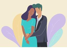 Romantisch paar in formele kleding vectoren