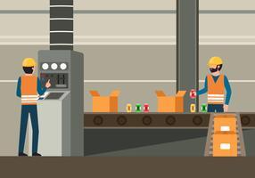 Fabrieksarbeiders Clip Art vector