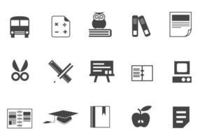 Onderwijs Pictogram Vector Pack Twee