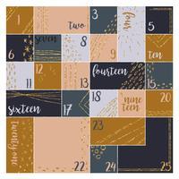 Vector Advent kalendersjabloon