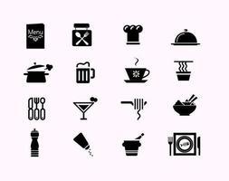 restaurant pictogram vector pack