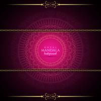 Abstracte luxe mandala achtergrond vector