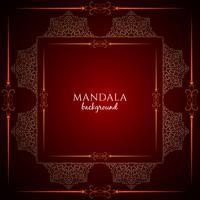 Abstracte decoratieve luxe mandala ontwerp achtergrond vector
