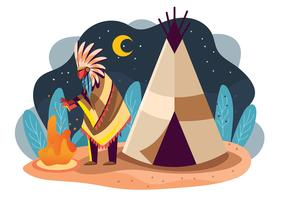 Inheemse bevolking vector