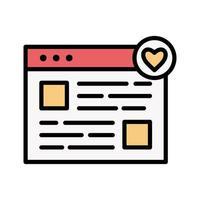 bladwijzer webpagina pictogram vector