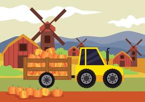 Hayrides Fall festival achtergrond