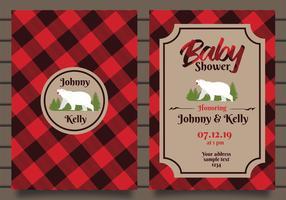 Uitnodiging voor baby shower vector