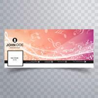 Mooie kleurrijke facebook sjabloon ontwerp vector
