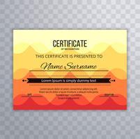 Moderne elegante kleurrijke certificaatsjabloon vector