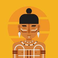 Inheemse mensen Vector