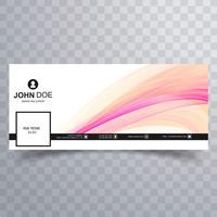 Abstract golvend facebook tijdlijn cover ontwerp vector