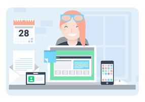Vector Designer's Desktop Illustratie