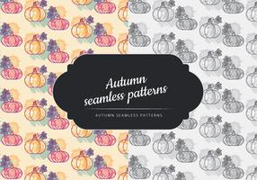 Vector herfst naadloze pompoen patroon
