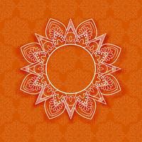 Abstracte mandala bloemenachtergrond vector