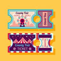 county fair ticket vector
