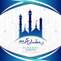 Arabische decoratieve ramadan kareem achtergrond vector