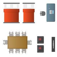 Realistische interieur ontwerpelementen Vector