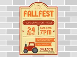 Funky Fall Festival Vectoren