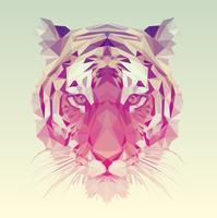 Veelhoekig Tiger grafisch ontwerp. vector