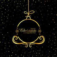 Vrolijke Kerstmis decoratieve balvector als achtergrond vector