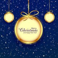 De bal decoratieve blauwe van Kerstmis achtergrondillustratievector vector