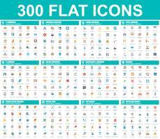 Eenvoudige set van vector plat pictogrammen. Bevat pictogrammen zoals Zakelijk, E-commerce, Reizen, Vakantie, Onderwijs, Leren, Medisch, Gezondheidszorg, Ecologie. 48x48 Pixel Perfect. Platte pictogram pack.
