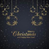 Vrolijke de balachtergrond van Kerstmissneeuwvlokken