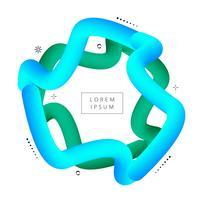 Abstracte kleurrijke geometrische achtergrond. 3d vloeibare vorm illustrat