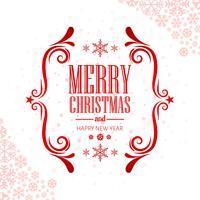 Merry christmas wenskaart decoratieve achtergrond vector