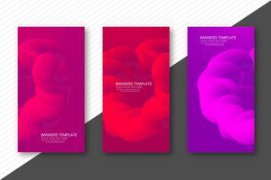Abstracte kleurrijke vloeibare banner achtergrond vector