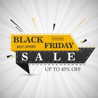 Zwarte vrijdag verkoop banner lay-out ontwerp vectorillustratie