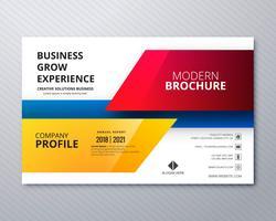 Zakelijke flyer sjabloon professioneel ontwerp vector