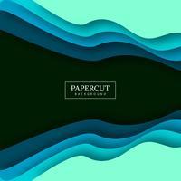 Stijlvol kleurrijk de golf kleurrijk ontwerp van Papercut