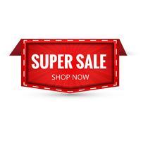 Super Sale Banner Design. Vector illustratie