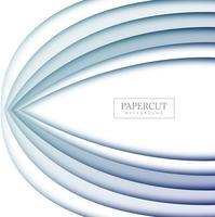 Modern vormgegeven ontwerp met papercut