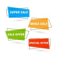 Kleurrijk verkoopbanner vastgesteld vectorontwerp vector