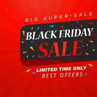 Zwarte vrijdag verkoop banner lay-out ontwerp vector