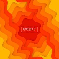 Mooie Papercut-modieuze golf kleurrijke ontwerpvector