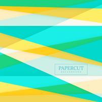 Van de Achtergrond papercut kleurrijke vorm vector