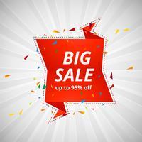 Grote verkoop banner kleurrijke ontwerp illustratie vector