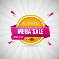 Mega verkoop ontwerp Banner kleurrijke vectorillustratie vector