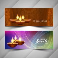 Abstract Gelukkig Diwali godsdienstig bannersontwerp