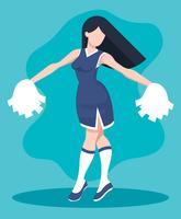 Cheerleader Illustratie vector