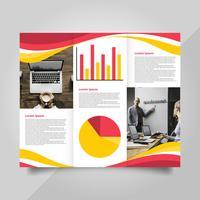 Platte moderne professionele brochure Vector sjabloon