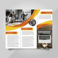 Platte moderne professionele oranje warme Brochure Vector sjabloon