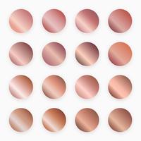 rose goud gradiënt stalen vector